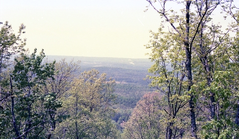 Scenic view from Shackleford Point Trail, Oak Mountain State Park, Shelby County, Alabama