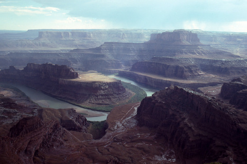 Overlooking a bend of the Colorado River, Dead Horse Point State Park, Utah