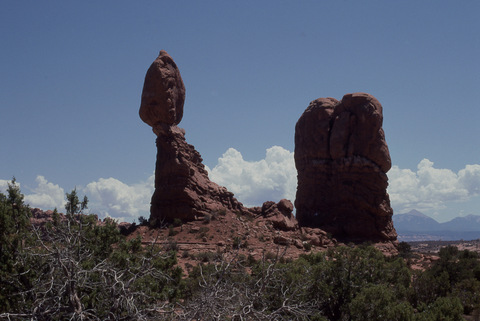 Balanced Rock in the Fiery Furnace, Arches National Park, Utah