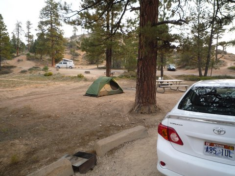 Campsite, Bryce Canyon National Park, UT