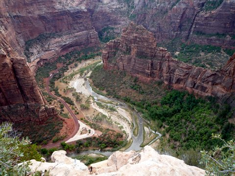 View from Angel's Landing Trail, Zion Canyon National Park, UT