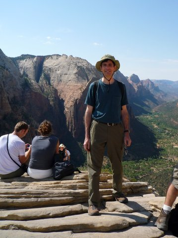 Posing on Angel's Landing, Zion Canyon National Park, UT