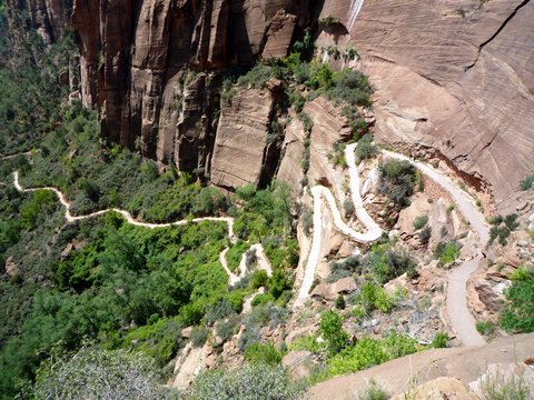Walter's Wiggles, West Rim Trail, Zion Canyon National Park, UT