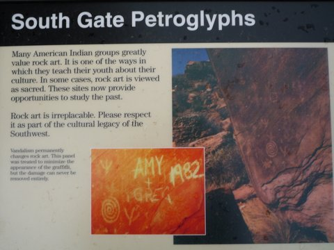 South Gate Petroglyphs, Zion Canyon National Park, UT