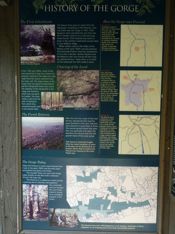 History poster, Mianus River Gorge, Westchester County, NY