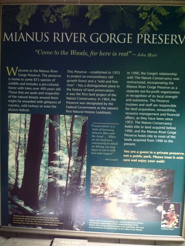 Introductory poster, Mianus River Gorge, Westchester County, NY