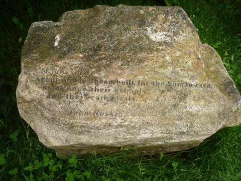 Stone engraved with quotation from John Ruskin, Mt. Greylock, MA