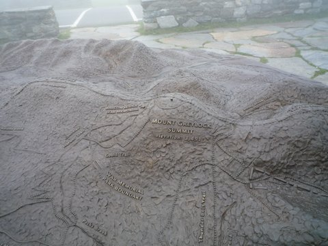 Relief map, Mt. Greylock, MA