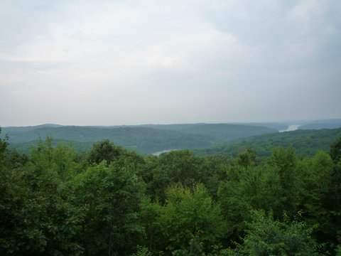 Scenic view from Leatherman Loop, Ward Pound Ridge Reservation, Westchester County, NY