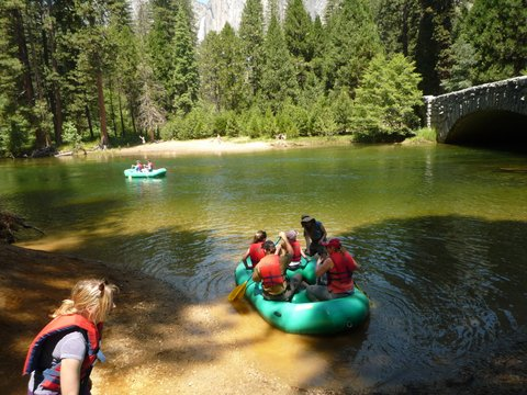 Rafting on the Merced River, Yosemite National Park, California