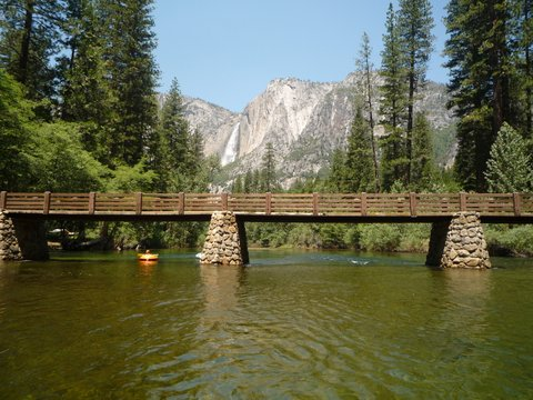 Bridge over the Merced River, Yosemite National Park, California