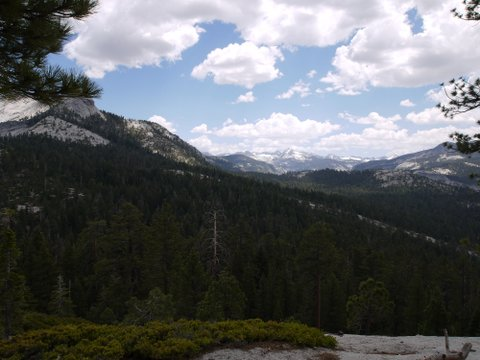 Clark Range from Half Dome Trail, Yosemite National Park, California