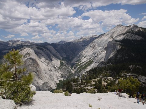 View from shoulder of Half Dome, Yosemite National Park, California