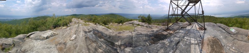 360 Degree Panorama from Base of Fire Tower on South Beacon Mountain, Hudson Highlands State Park, NY