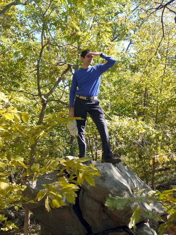 Posing in Black Rock Forest, Orange County, New York