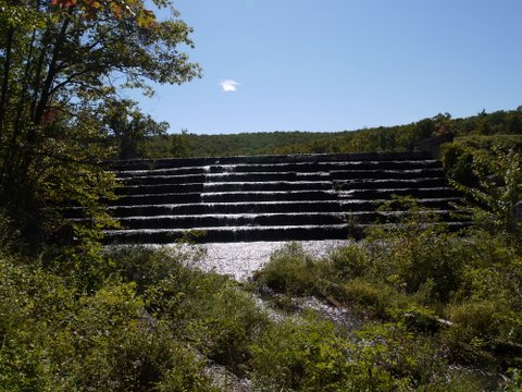 Spillway of Aleck Meadow Reservoir, Black Rock Forest, Orange County, New York