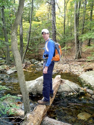 Posing at Mineral Spring Brook, Black Rock Forest, Orange County, New York