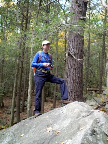 Posing at Black Rock Forest, Orange County, New York