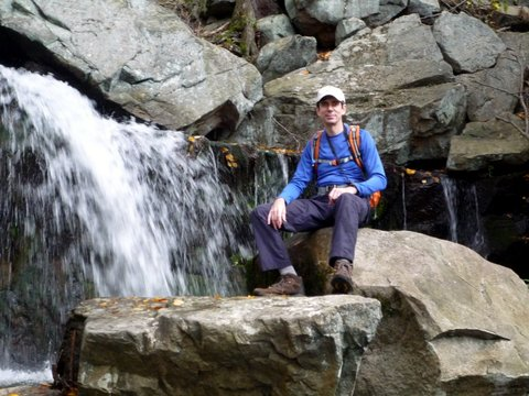 Posing at Mineral Spring Falls, Black Rock Forest, Orange County, New York