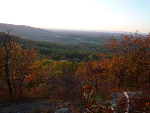 Scenic view from Sackett Trail, Black Rock Forest, Orange County, New York