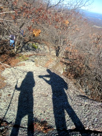 Shadow figures, Schunemunk Mountain State Park, Orange County, NY