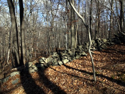 Rock wall, Mountain Lakes Park, Westchester County, NY