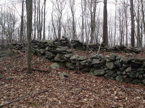 Rock wall, Yellow Trail, Mountain Lakes Park, Westchester County, NY