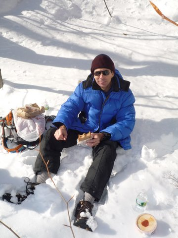 Lunch in the snow