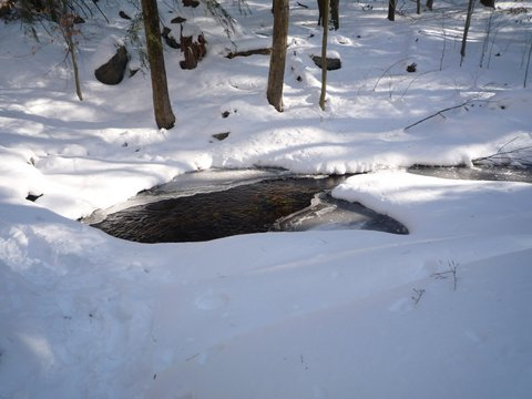 Stream in winter, Fahnestock State Park, NY