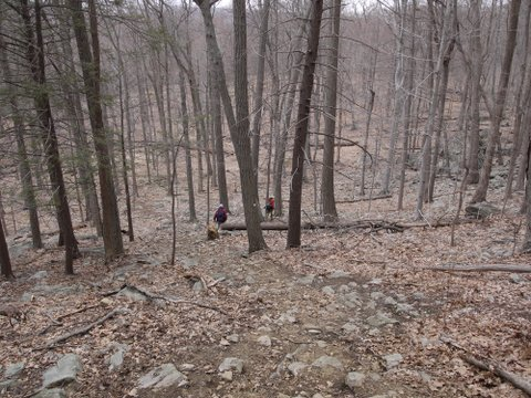Descending on A-SB Trail, Harriman State Park, NY