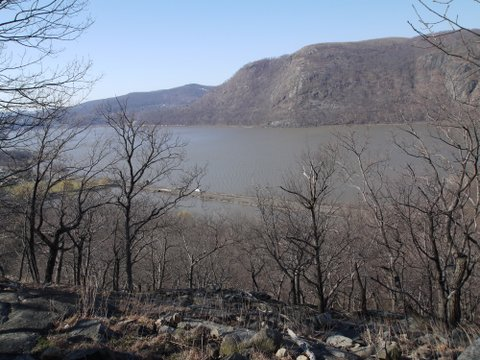 Hudson River as seen from Washburn Trail, Hudson Highlands State Park, NY