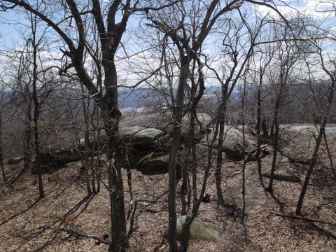 Scenic View descending Bull Hill (Mt. Taurus), Hudson Highlands State Park, NY