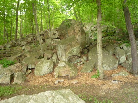 Rocks beside Major Welch Trail, Bear Mountain State Park, NY