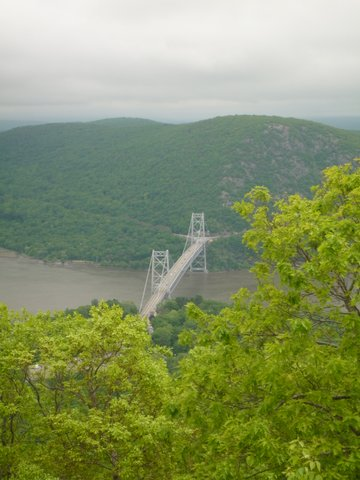 Bear Mountain Bridge, seen from Bear Mountain, Bear Mountain State Park, NY
