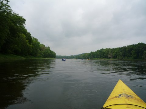 Kayaking on Delaware River