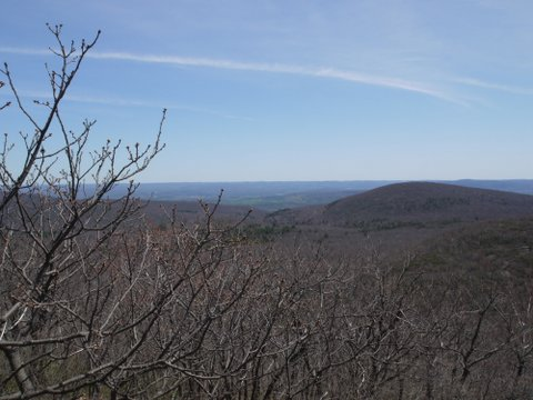 Scenic view from Mt. Frissell Trail, Mt. Washington State Forest, MA