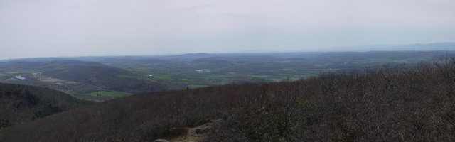 Panorama from South Taconic Trail, Mt. Washington State Forest, MA