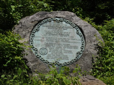 Daughters of American Revolution Plaque, Lakeville-Ironworks Trail, Sterling Forest State Park, NY