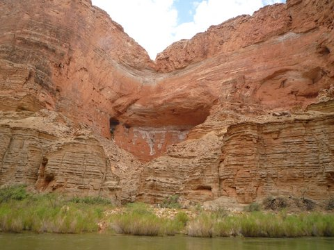 One of Triple Alcoves, Mile 47, Colorado River, Grand Canyon