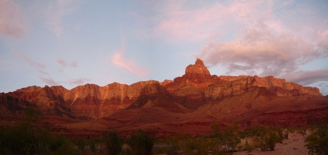 Sunset, Upper Tanner Campsite, Colorado River, Grand Canyon