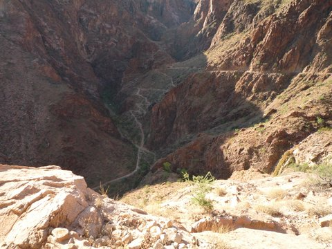 Switchbacks on the Bright Angel Trail, Grand Canyon