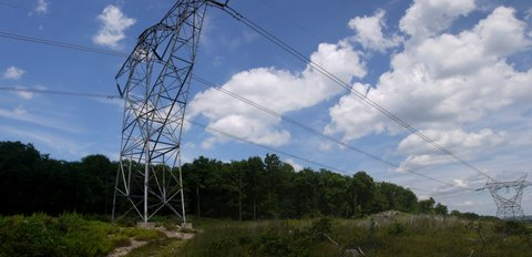Transmission lines, Long Pond Ironworks State Park, NJ