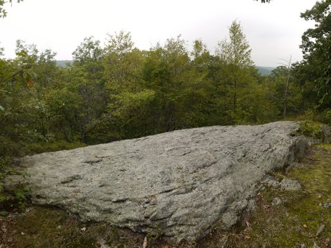 Bare rock on Perkins Trail, Fahnestock State Park, NY