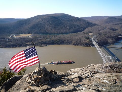 Bear Mountain Bridge, Viewed from Anthony's Nose, Hudson Highlands State Park, NY