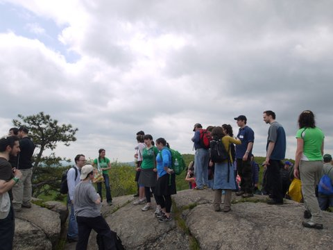 JOC Hikers at Wyanockie High Point, Norvin Green State Forest, NJ