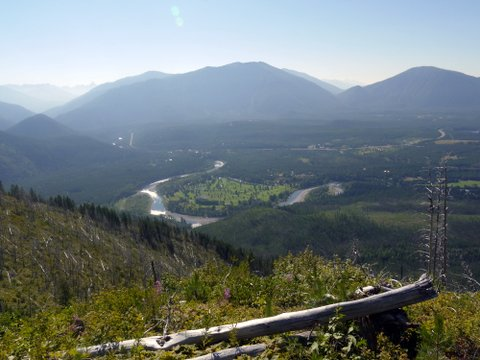 Flathead River from Apgar Lookout Trail, Glacier National Park, Montana