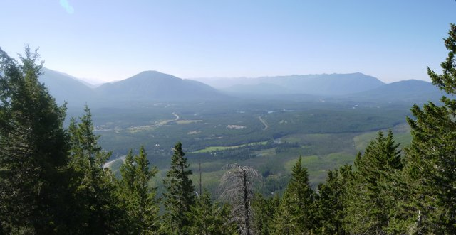 View from Apgar Fire Lookout, Glacier National Park, Montana
