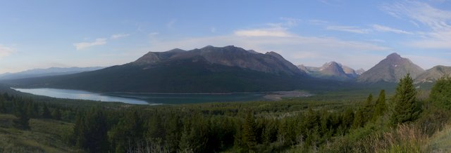 View from a pullout on Route 49, outside Glacier National Park, Montana