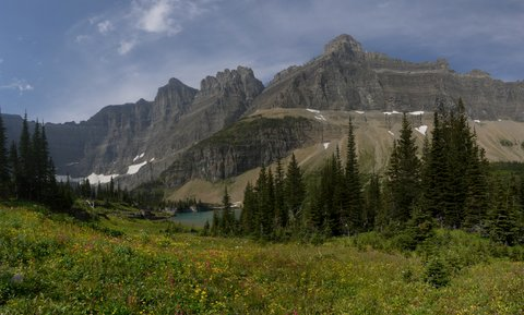View from Iceberg Lake Trail, Glacier National Park, Montana