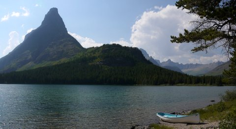 Swiftcurrent Lake and Grinnell Point, Glacier National Park, Montana